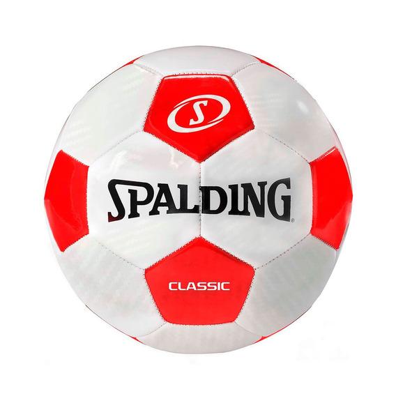 Pelota Futbol Tornado Clasic Blanco Con Rojo - Spalding