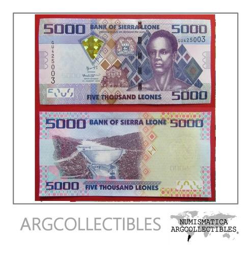 Sierra Leona Billete 5000 Leones 2015 Unc Pick 32