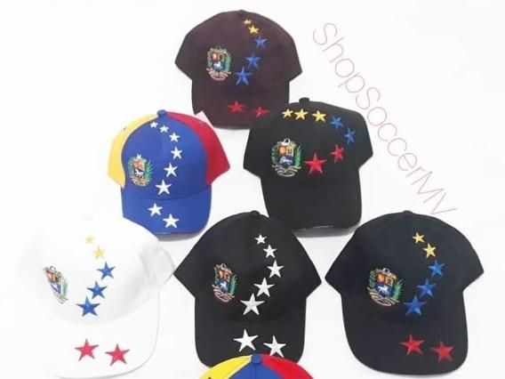 Gorras Tricolor De Venezuela Ajustable Cierre Magico Adultos
