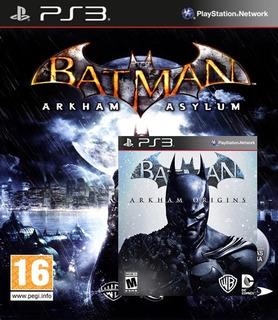 Batman: Arkham Asylum + Arkham Origins (ps3)