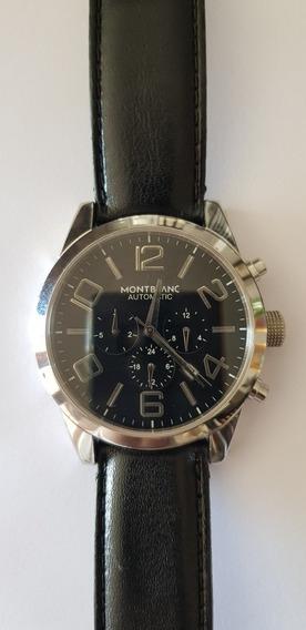 Relógio Automático Usado Pulseira De Couro.