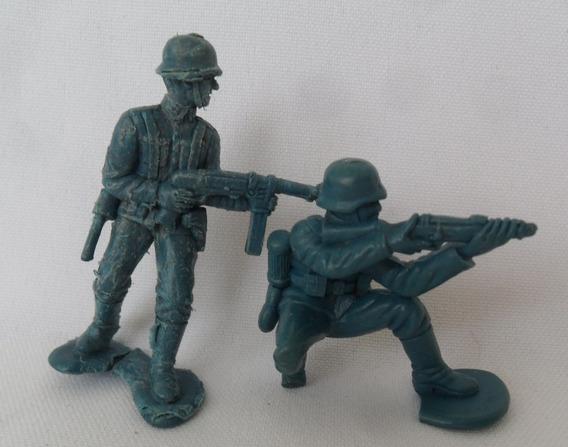 Soldadinho Gulliver Brinquedo De Plástico Boneco Antigo 2 Un