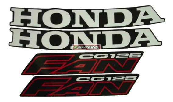 Kit Adesivo Jogo Faixas Moto Honda Fan 125 2006 Preta