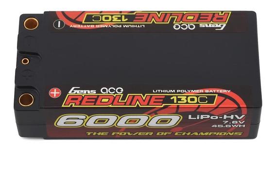 Bateria Gens Ace Lipo 2s 7.6v Hard Case 6000mah 130c