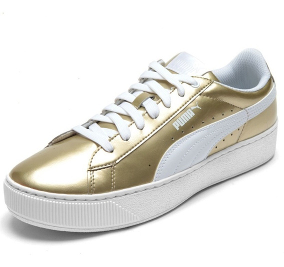 Tenis Puma Vikki Platform Metallic Eight Sports