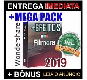 Editor Filmora 2019 + Pacotes De Efeitos Envio Automatico