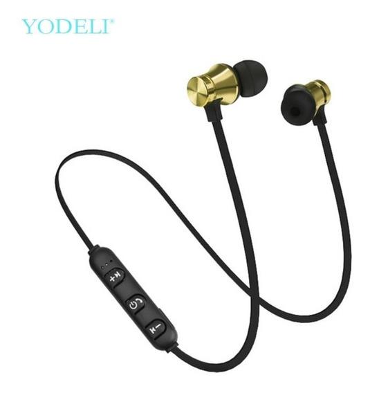 Fone De Ouvido Bluetooth Wireless Estéreo Sem Fio Dourado
