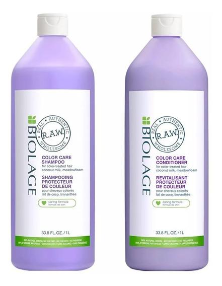 Biolage Shampoo Y Acond De Litro Raw Color Care