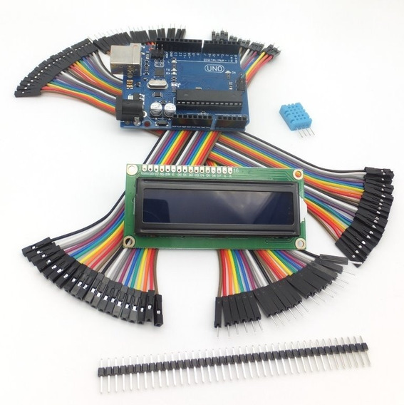 Kit Arduino Uno Plus: Cables Dupont + Usb + Dht11 + Lcd 16x2