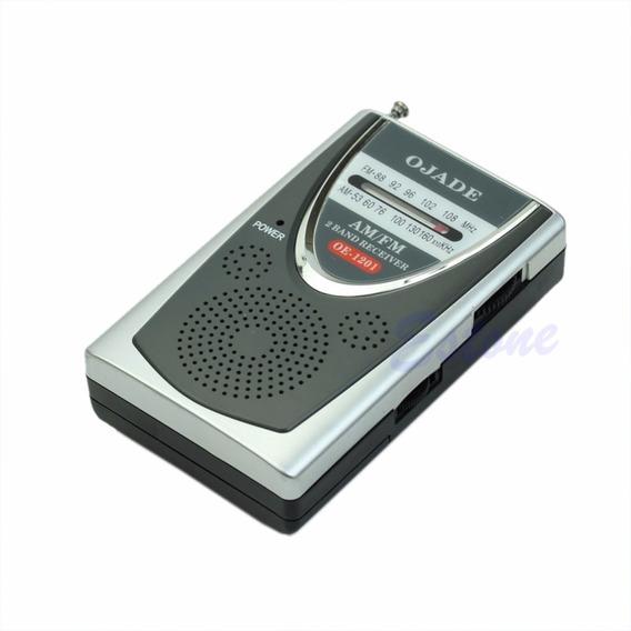 Rádio Receptor Ojade Oe-1201 Am/fm Com Clipe P/ Cinto