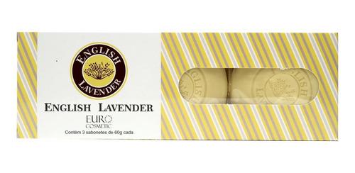 Imagem 1 de 1 de Estojo Com 3 Sabonetes English Lavender A Lavanda Inglesa