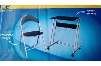 Conjunto Office-scool - Cadeira Estofada + Mesa