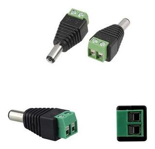 Conector Ficha Plug Cctv Macho Cámara Seguridad Bornera X10