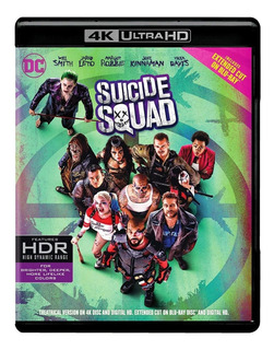 Blu Ray 4k Ultra Hd Suicide Squad Extended Marvel Dc