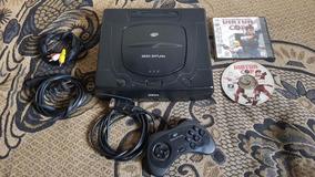 Sega Saturn Nacional Completo Com Jogo Original Tudo 100% A7
