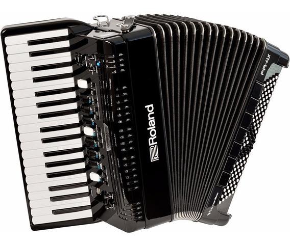 Sanfona Acordeon Elétrico Roland Fr4x Fr-4x Preto C/ Bag