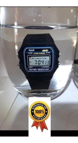 Relógio Masculino Aqua Aq 81 Promoção Resistente A Água