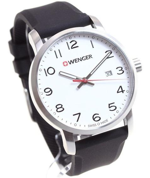 Relógio Suíço Wenger Avenue Pulseira De Silicone 01.1641.103