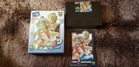 Fatal Fury 2 Original Japonês Completo Neo Geo Aes.