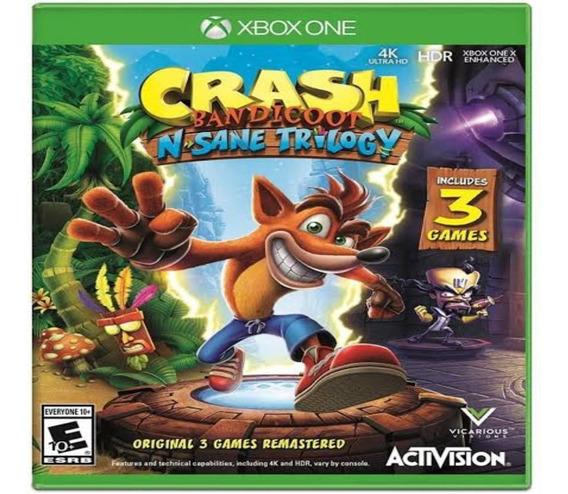 Crash Bandicoot Trylilogy Xbox One Mídia Digital + Brinde