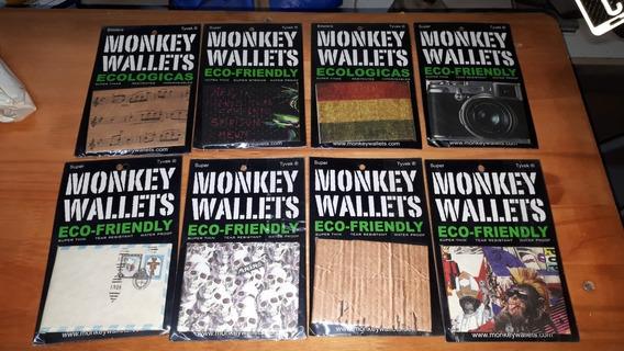 Billetera Monkey Wallets Ecologicas Impermeables Combo X15 U