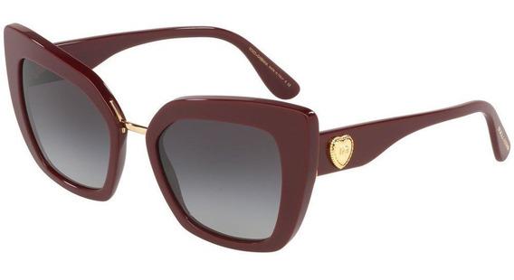 Dolce & Gabbana Dg4359 30918g 52 - Bordô/cinza Gradiente