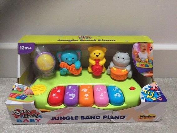 Piano Banda Da Floresta Winfun Animais Pianinho Infantil