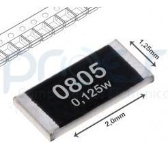 Resistor Smd 0805 Escolha Os Valores 100pçs Frete R$12