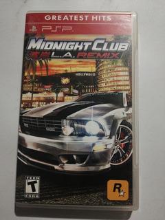 Midnight Club L.a. Remix. Psp.