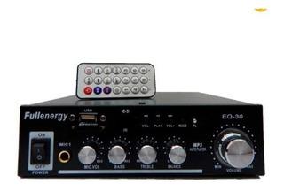 Amplificador Potencia Audio 200w 220v Y 12v Mp3 Sd Usb Mic