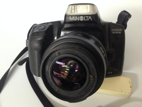 Maquina Camera Fotografica Minolta Com Lente Af 35-70