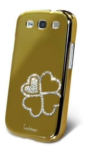 Carcasa Con Brillantes Color Oro Samsung Galaxy S3