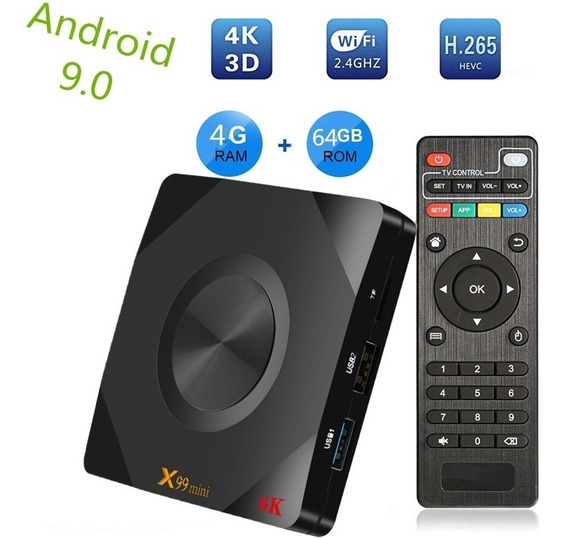 X99 Mini Smart Android 9.0 Tv Box Allwinner H6 Quad Core 64