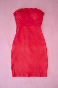 Vestido Tomara-que-caia Em Tafetá Vermelho