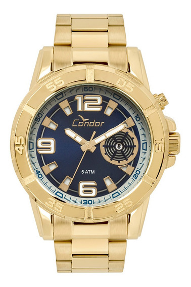 Relógio Condor Masculino Dourado Co2317aa/4a