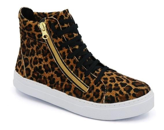 Tênis Sneaker Bota Botinha Feminina Cano Alto Preta