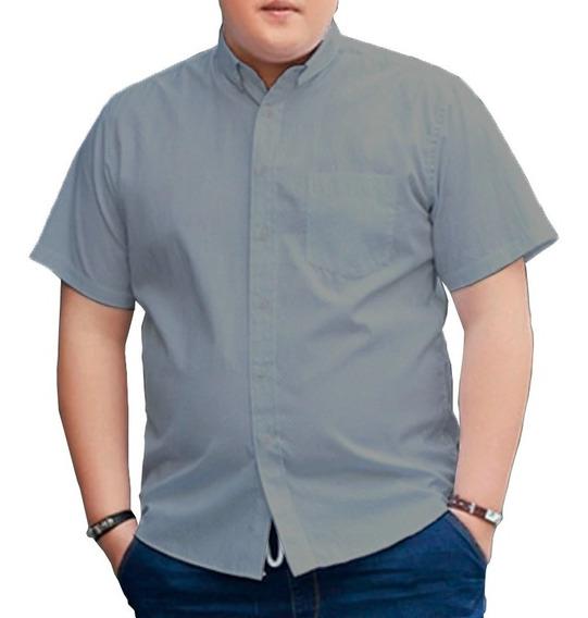 Camisa Social Manga Curta - Plus Size/extra Grande