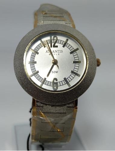 Relógio Atlantis C708g Prata Feminino Novo Envio Já