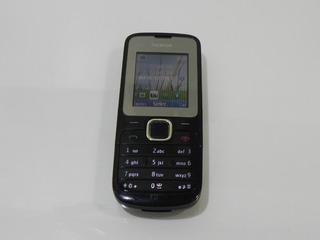 Nokia C2-00 Preto Desbloqueado Bluetooth **usado**