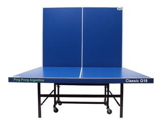 Mesa PingPong Argentina Classic G18 azul