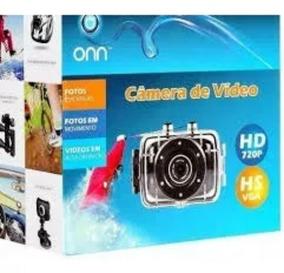 Câmera Filmadora De Ação Onn 5mp Hd Hs Vga