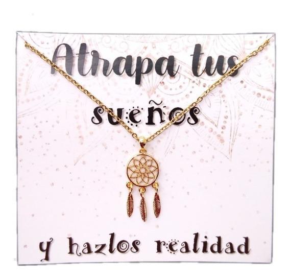 Collar De Atrapasueños Amuleto Protección Acero Inoxidable