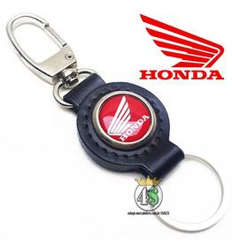 Chaveiro Honda Moto Couro Legitimo - Cg Biz Titan Cb Twister