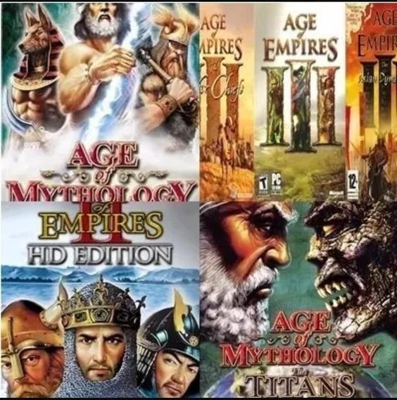 Todos Age Of Empires + Warcraft 3 +age Mythology E Expansões