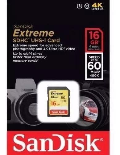 Cartão Memória 16gb Sdhc Extreme 90mbs Classe 10 Sandisk Nfe