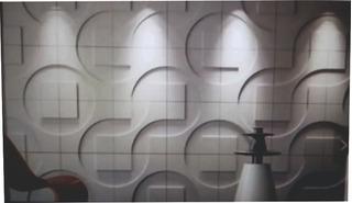 Molde Placas Antihumedad Revestimientos 3d Tecno 40 X 40 Cm