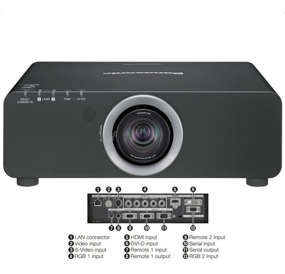 Projetor Panasonic Pt-dz680uk 6000 Lúmens Wuxga Dlp