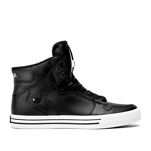 Supra Vaider Negro Y Blanco Mens Skate Shoes