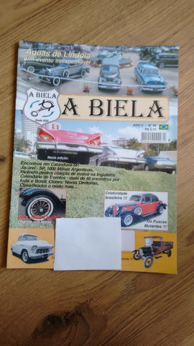 Revista A Biela 26 Carros Automóveis Antigos Fuscas N448