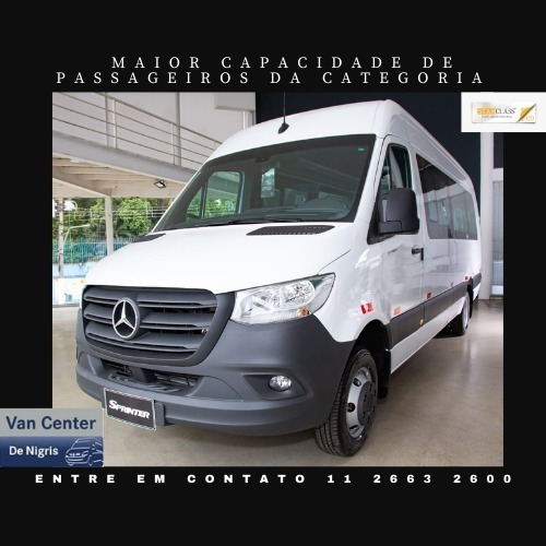 Imagem 1 de 11 de Mercedes- Benz Sprinter Van Passageiro 20 Lugares